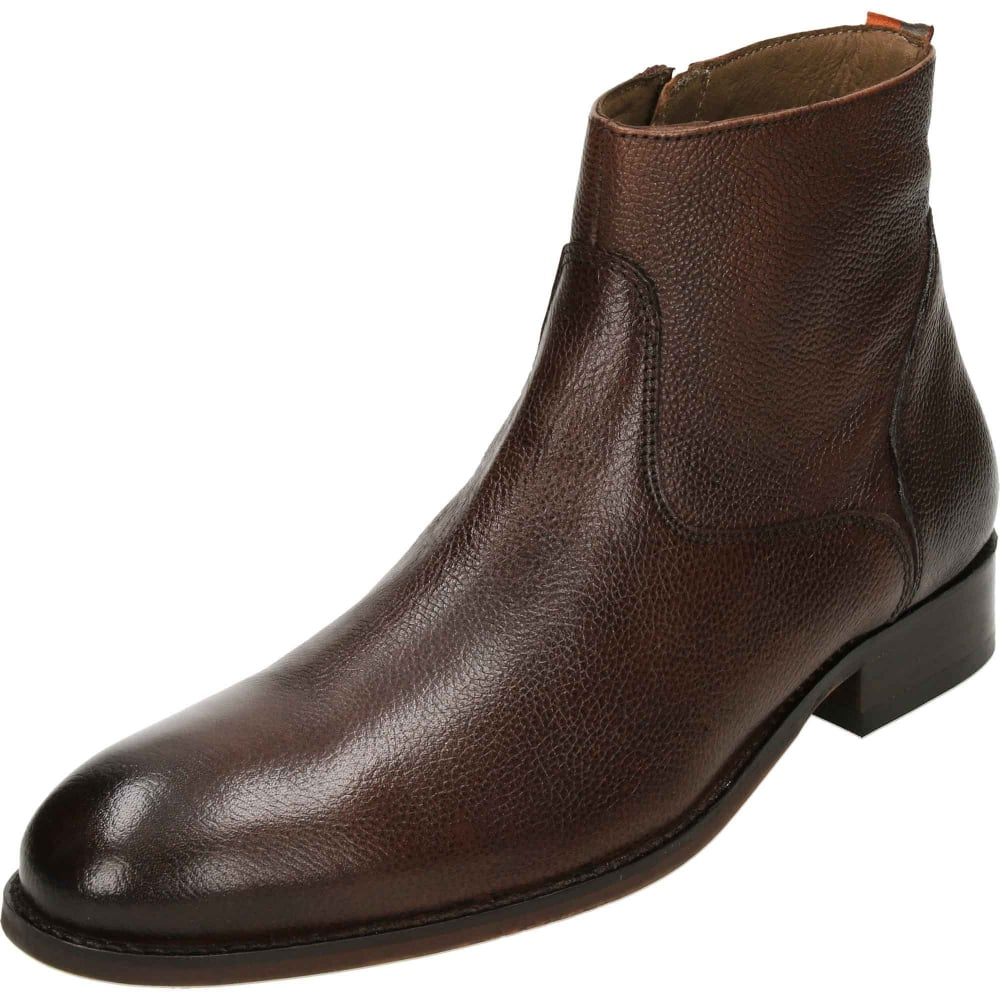 295decae5e5 Hardin Leather Desert Zip Ankle Boots