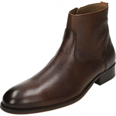 Hardin Leather Desert Zip Ankle Boots