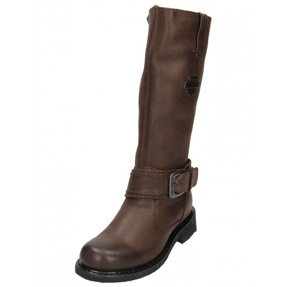 9923c8b8f20 Harley Davidson Leather High Leg Zip Up Biker Motor Cycle Boots - Ladies  Footwear from Jenny-Wren Footwear UK