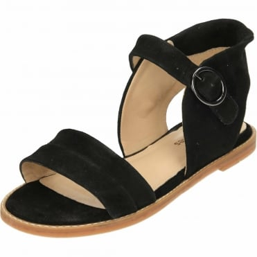 Abia Chrissie Suede Leather Flat Ankle Cuff Sandals