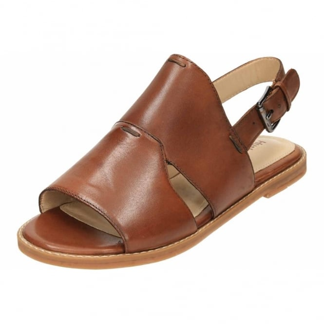 Hush Puppies Adiron Chrissie Leather Flat Slingback Open Toe Sandals
