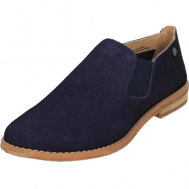 Hush Puppies Analise Clever Suede Leather Flat Chelsea Ankle Boot Shoes