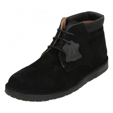 Barricane Heritage Suede Leather Lace Up Desert Boots