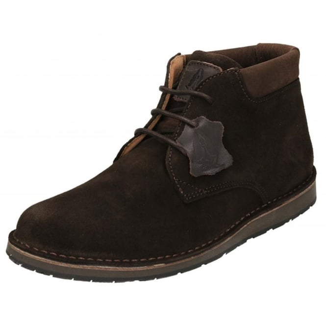 Hush Puppies Barricane Heritage Suede Leather Lace Up Desert Boots