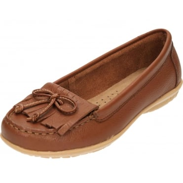 Ceil Mocc Leather Flat Slip On Loafer Mocassin Shoes