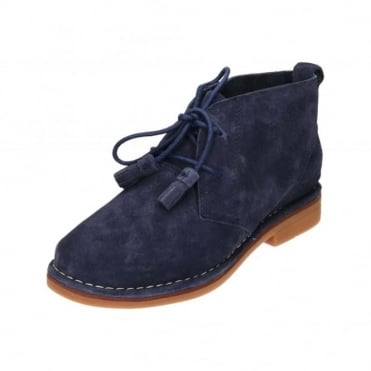 Cyra Catelyn Lace Up Real Suede Leather Desert Boots