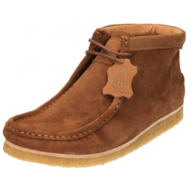 Hush Puppies Davenport High Heri Wallabee Lace Up Ankle Boots Tan Suede