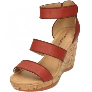 Elliston Lucca Real Leather Wedge Heel Platform Sandals