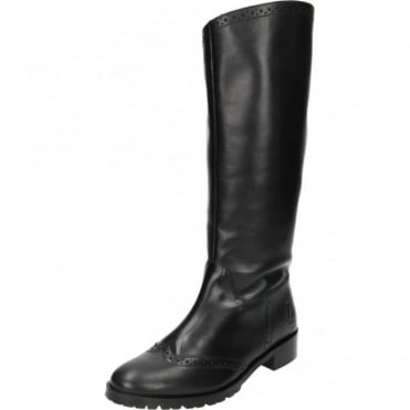 Emilia Real Leather Knee High Flat Boots