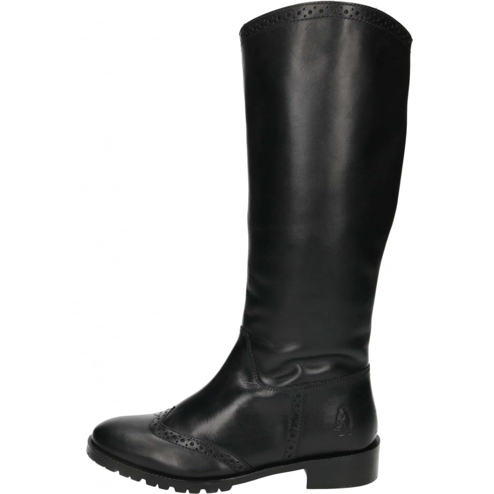 hush puppies emilia real leather knee high flat boots