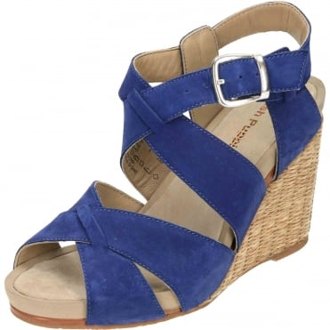 Fintan Montie Suede Leather Wedge Heel Platform Sandals