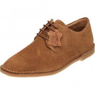Grant Desert Slim Suede Leather Derby Lace Up Shoes