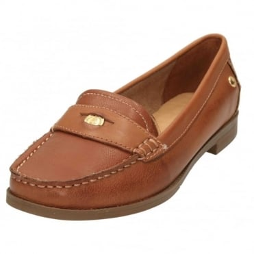 Iris Sloan Leather Flat Slip On Loafer Shoes