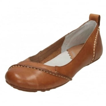 Janessa Real Leather Flat Slip On Ballet Shoes