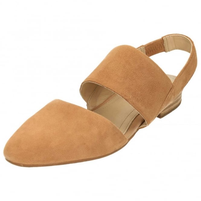 Hush Puppies Jotham Phoebe Suede Leather Flat Slingback Sandals