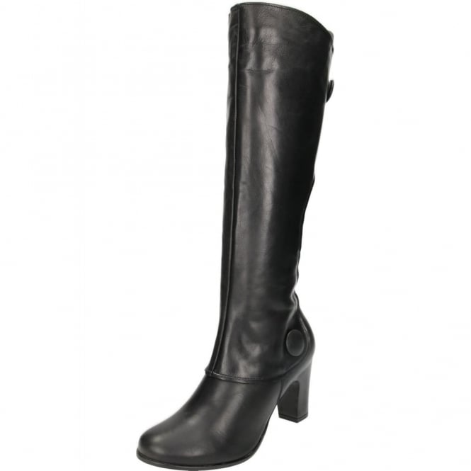 Hush Puppies Libby Brook Leather Suede Knee High Heel Boots