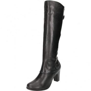 Libby Brook Real Leather Suede Knee High Heel Boots