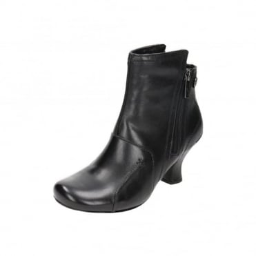 Lydie Verona Real Leather Stacked Heel Victorian Ankle Boots