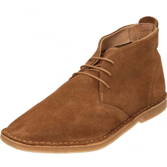 Hush Puppies Nolton Desert Slim Tan Suede Leather Ankle Boots Lace Up Derby Shoes