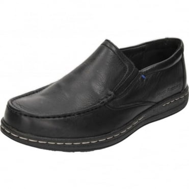 Real Leather Slip On Loafers Dual Fit Shoes
