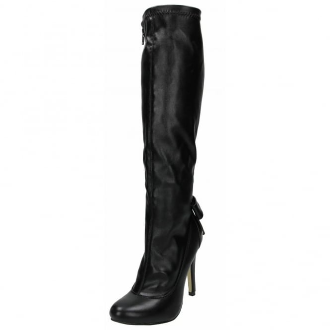 Just Fabulous Stiletto High Heel Boots Knee High Semi Pointed Toe