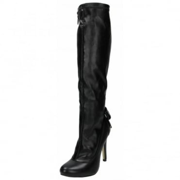 Stiletto High Heel Boots Knee High Semi Pointed Toe