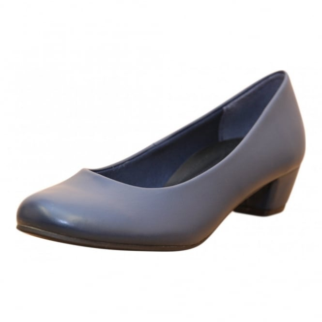 JWF Faux Leather Low Heel Court Office Shoes