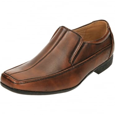 Formal Casual Slip On Dress Brown Wedding Loafer Shoes