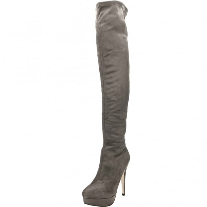 JWF High Heel Stiletto Platform Over Knee Boots Suede Style