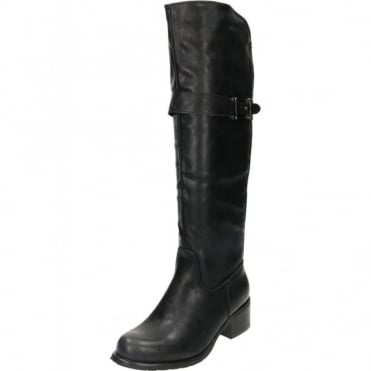 Knee High Flat Heeled Boots SIZE 3 LEFT ONLY