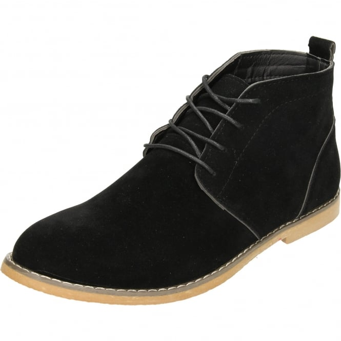 JWF Lace Up Dessert Ankle Boots Faux Suede Style