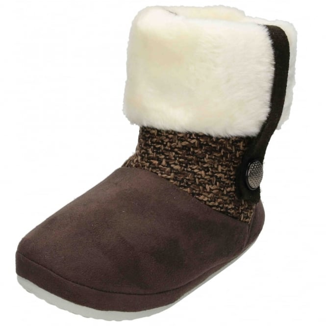JWF Ladies Cosy Warm Soft Fur Winter Ankle Booties Boots Slippers