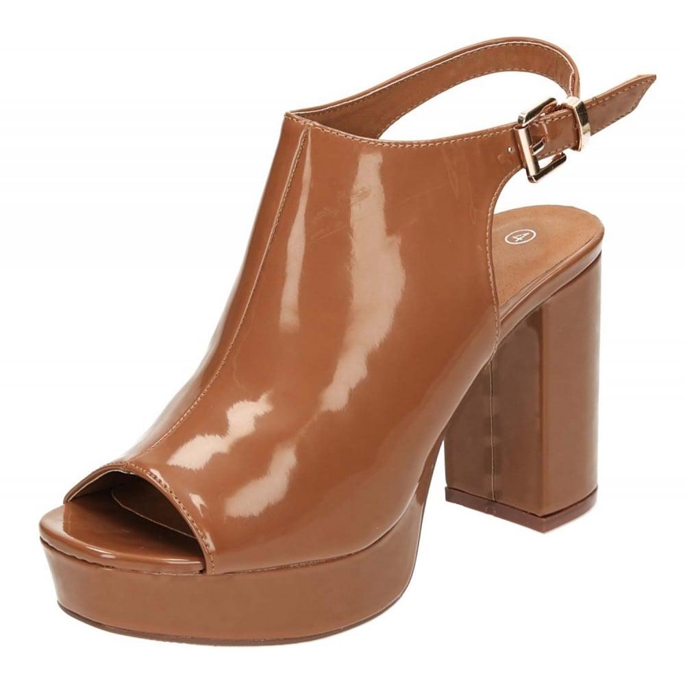 e8660a3e43b JWF Slingback Peep Toe Patent Heeled Platform Sandals Shoes - Ladies  Footwear from Jenny-Wren Footwear UK