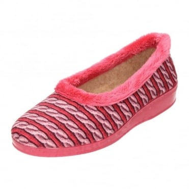 b6ea9c8b7d1 Warm Trim Slippers Wedge Raised Heel House Shoes Rubber Sole