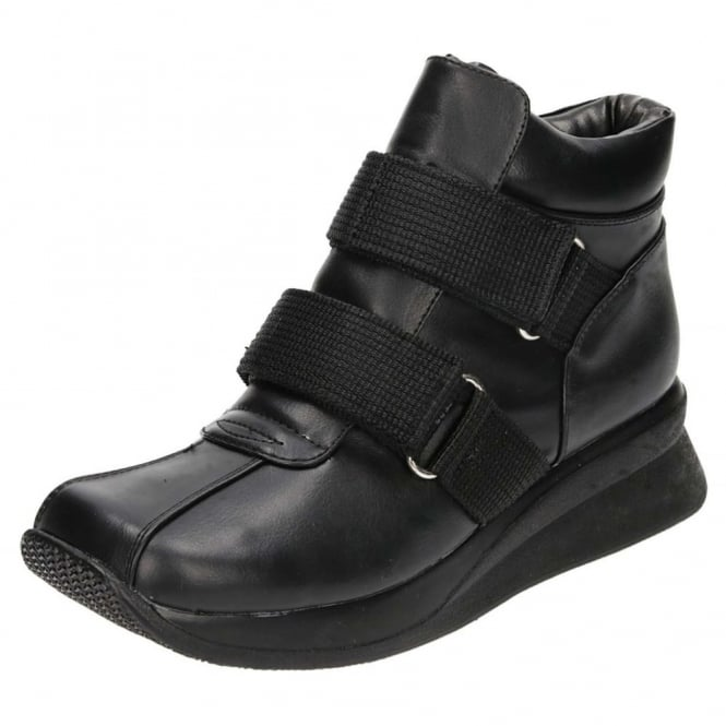 JWF Wedge Platform Flat Lightweight Ankle Boots CLEARANCE