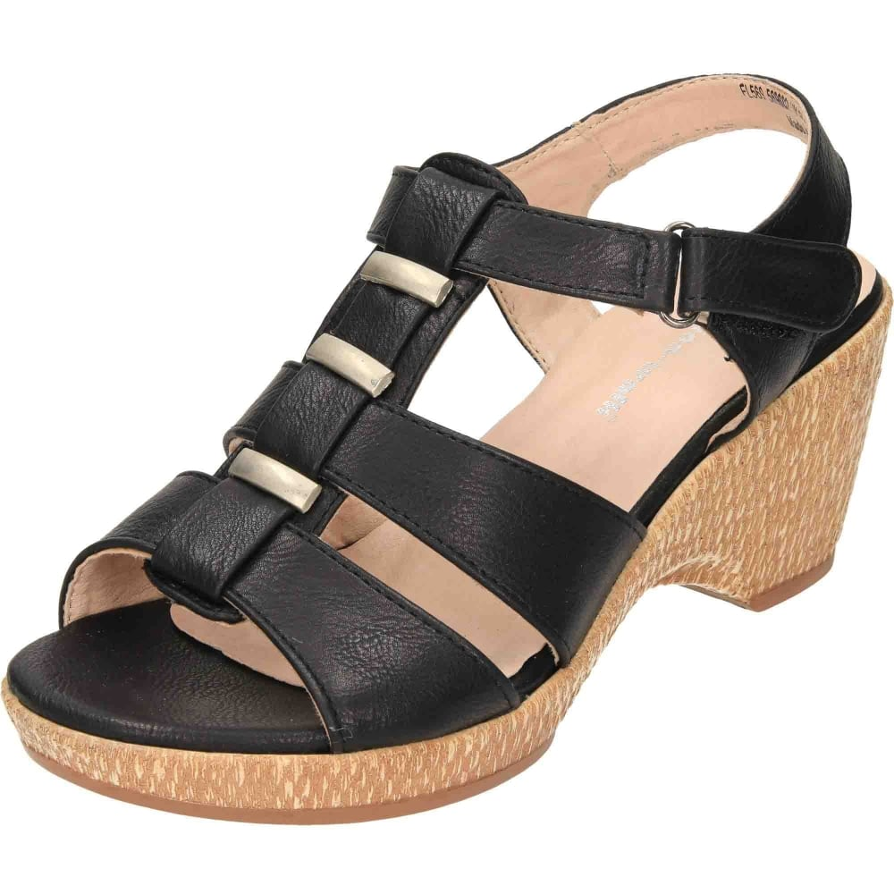 fashion design really comfortable best collection JWF Wide Fit Scoop Wedge Platform Open Toe Strappy Sandals