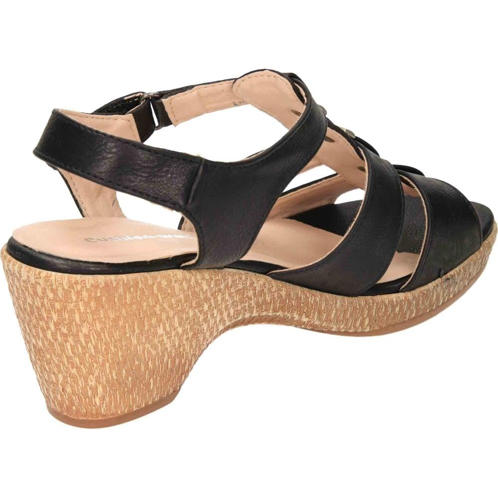 Wide fit sandals shoes uk - Jwf Wide Fit Scoop Wedge Platform Open Toe Strappy Sandals