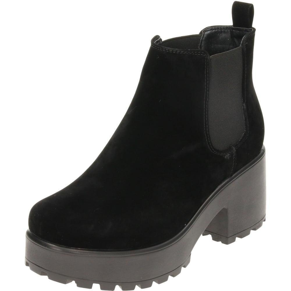 2a59f24e66a0 Koi Footwear Chunky Heeled Platform Chelsea Ankle Boots Suede Style - Ladies  Footwear from Jenny-Wren Footwear UK