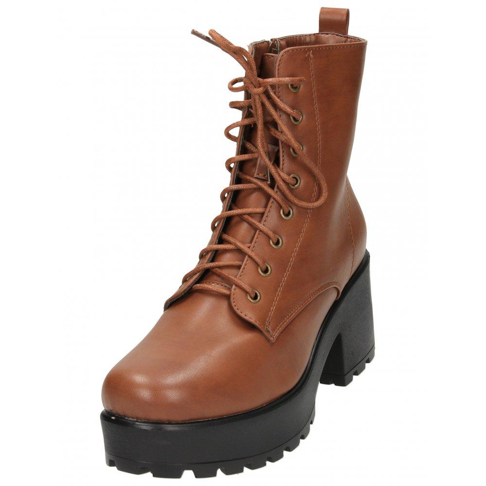 7c5b51769ae4 Koi Footwear Lace Up Zip Chunky Block High Heel Platform Retro Ankle Boots  ND 26 - Ladies Footwear from Jenny-Wren Footwear UK