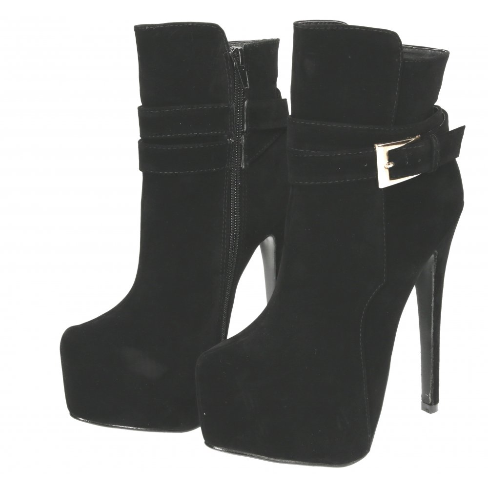 Koi Couture Platform Ankle Boots Stiletto Very High Heel - Ladies ...
