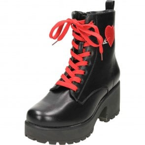 d2ae707c557f Koi Footwear Chunky Heeled Platform Chelsea Ankle Boots Suede Style ...