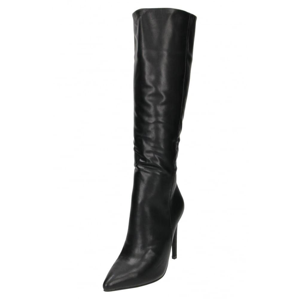 Koi Footwear High Heel Stiletto Knee High Boots Pointed Toe - Ladies ... 1dd68f01c