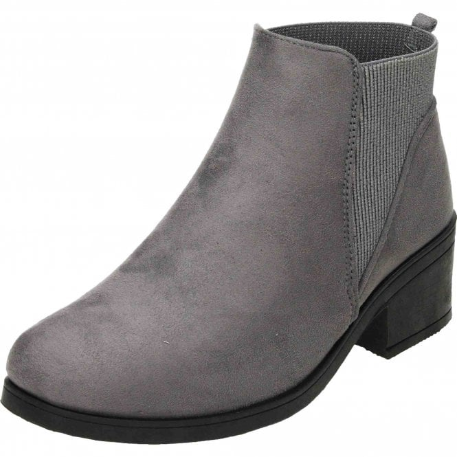 Krush Chelsea Ankle Boots Suede Style Pull On