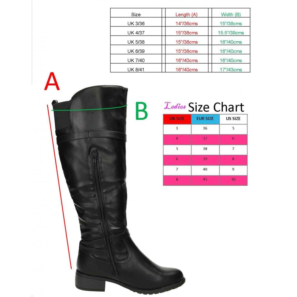 0cfd3ea69 Krush Knee High Flat Riding Boots Black - Ladies Footwear from Jenny ...