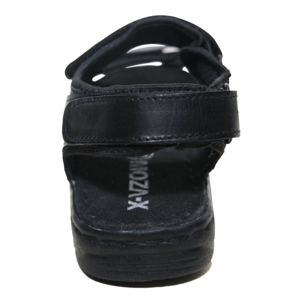 moza x mens leather black velcro summer sandals sports