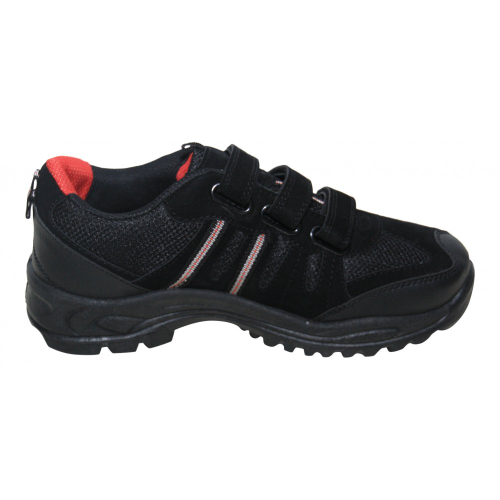mx2 mens black velcro hiking boots trail walking