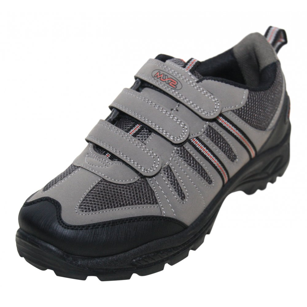 MX2 Mens Grey Red Velcro Hiking Boots