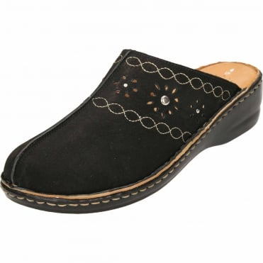 Leather Clogs Slip On Mules Sandals