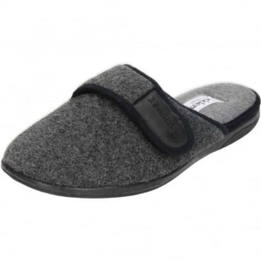 Baxter G Wide Fitting Washable Slipper Mules