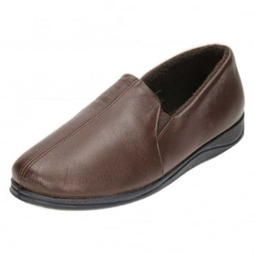 Ben G Wide Fitting Real Leather Gusset Full Slippers